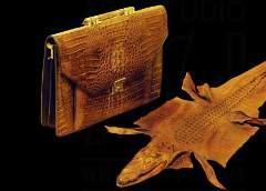 MJ Notebook Bag - Crocodile Brown Natural